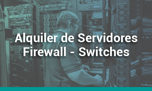Alquiler de Servidores - Firewall - Switches